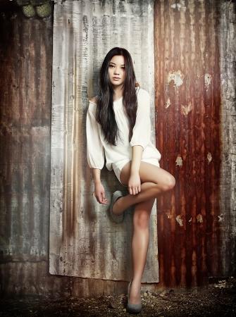 Beautiful young exotic Asian woman photo