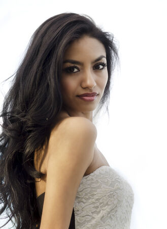 Beautiful exotic elegant young woman photo
