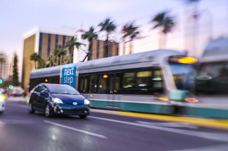 Lomo style -Phoenix, Arizona,Downtown Light Rail Central Ave