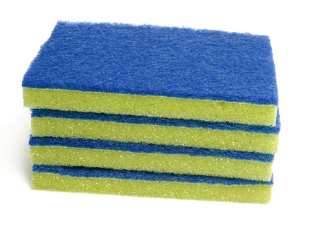 rags: Cleaning scrubbing  Pads Stock Photo