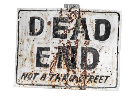 end of road: Creepy dead end sign