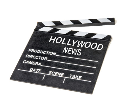 Showbiz gossip news clapperboard symbol Stock Photo