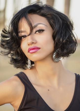 Beautiful exotic young woman photo