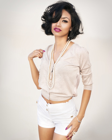 petite: Beautiful exotic young woman