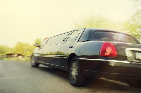 Limo Stretchlimousine Auto weg