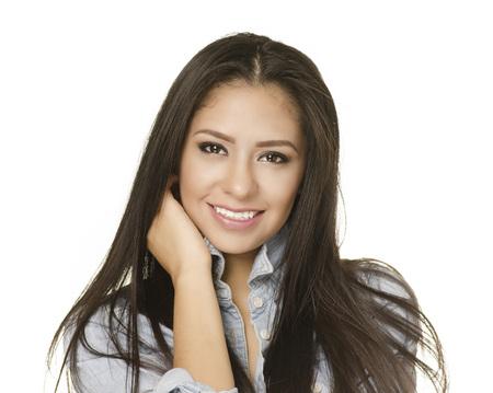 mexican girl: Beautiful smiling young woman