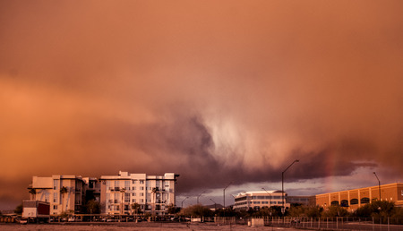 Dust storm haboob weather system in Phoenix,AZ Stock Photo