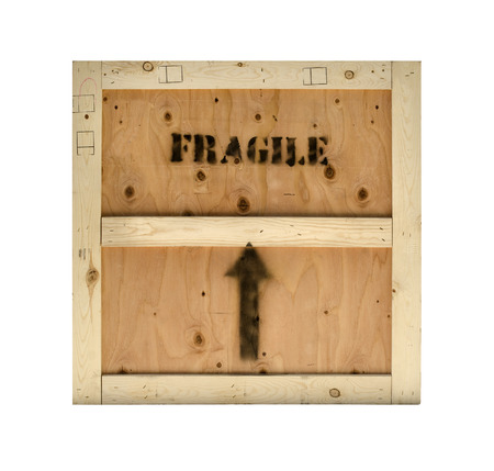 Wood crate fragile cargo background texture