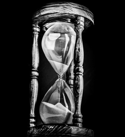 Sand timer hour glass photo
