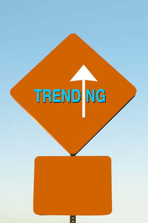 popularity: Trending Now  viral Image photo of success arrow word sign indicating popularity of search activity on news or specific item on website