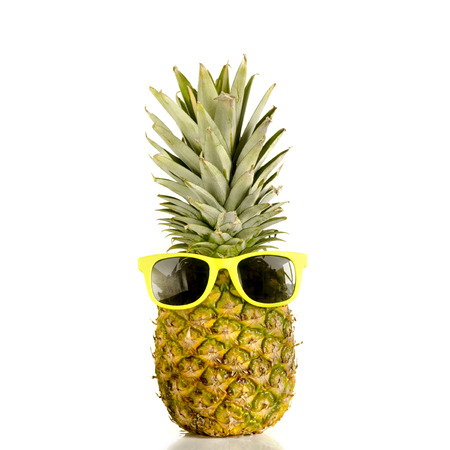 Pineapple wearing sunglasses 免版税图像 - 30691211