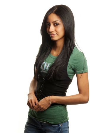 Attractive mixed race young woman photo