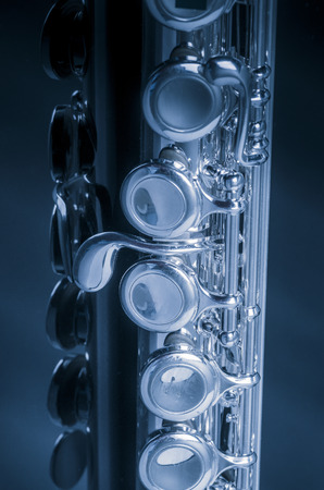 boehm flute: Instrumento flauta Foto de archivo
