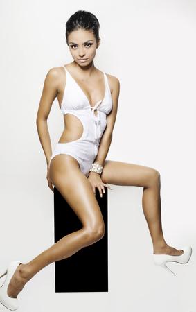 petite: Sexy woman in bikini