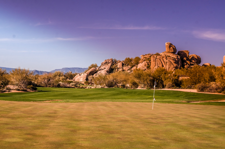 Scottsdale, Arizona golf course,USA