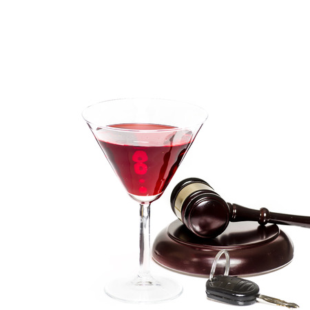 under arrest: Law - drink driving concept image Stock Photo