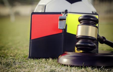 ref: Football soccer legal rules regulation concept image