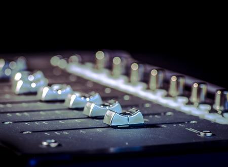 Sound board in recording studio 写真素材