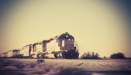 freight train: Freight train traveling through Arizona
