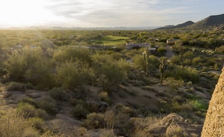 Desert sunset, Scottsdale,Phoenix golf community,AZ photo