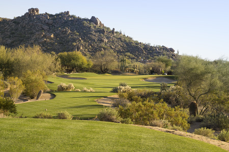 Golf course Scottsdale, Arizona,USA 免版税图像