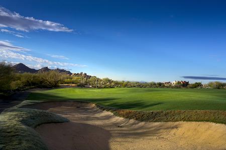 Golf course fairway Foto de archivo