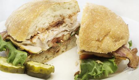 Turkey bacon lettuce sandwich  blt photo