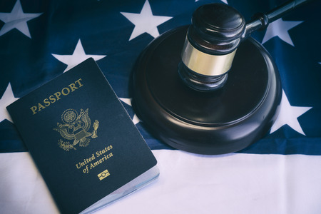 pasaporte: Imagen del concepto la ley de inmigraci�n de EE.UU.