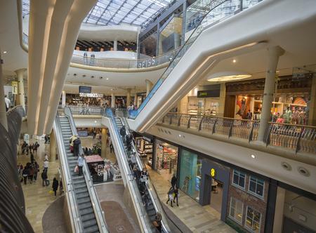 bull ring: Birmingham England. May 3rd2015. Bull Ring shopping center Editorial