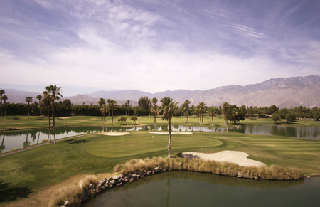 golf of california: Beautiful landscape view of Palm Springs and Chino Canyon on a hot summer day.