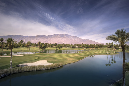 golfcourse: Beautiful landscape view of Palm Springs and Chino Canyon on a hot summer day.
