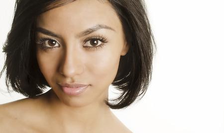 latina female: Close up face your woman diversity