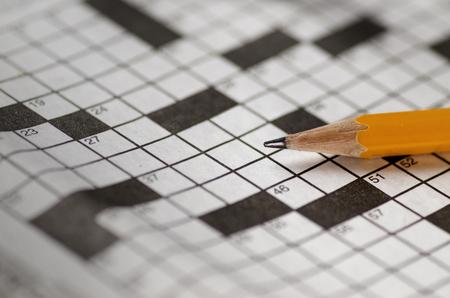 in memory: Crossword Puzzle Stock Photo