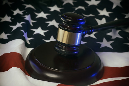 constitutional law: American Flag Legal Law Concept Image