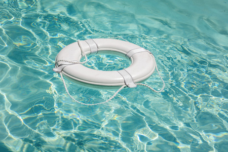 life saver: Life buoy in swimming pool life saver