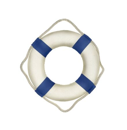 drown: Life buoy on white background