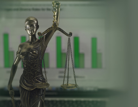 balance symbolic: Legal crime law headlines concept image