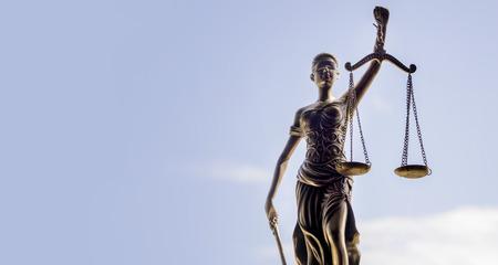 Scales of Justice symbol - legal law concept image. Foto de archivo