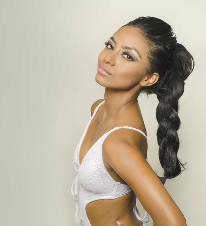 photo studio: Beautiful exotic woman