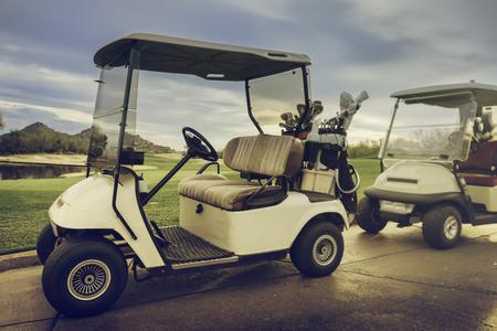 Golf cart buggy Stock Photo