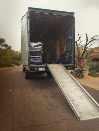 ramp: Moving truck van home