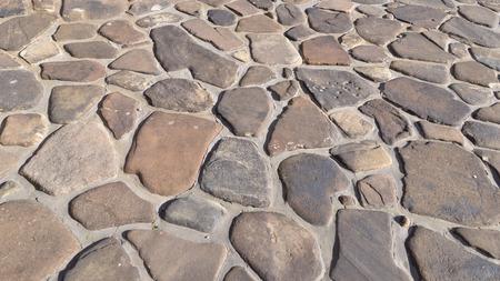 driveway: Random shape stone paver hardscape pathway, driveway design