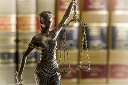 estatua de la justicia: Legal imagen concepto de Derecho Foto de archivo