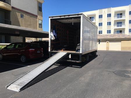 Moving truck Foto de archivo