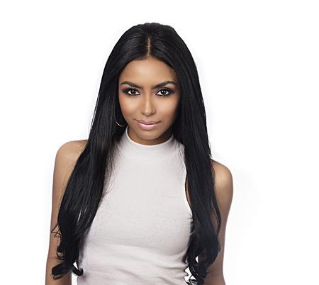 Beautiful young woman  long hair