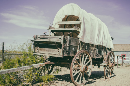 western usa: Wild west wagon - South West American cowboy times concept Stock Photo