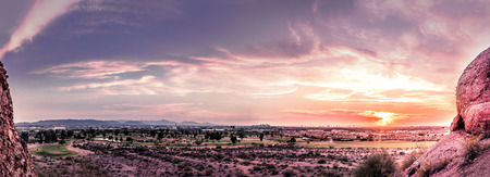 Sunset view of Phoenix,Az