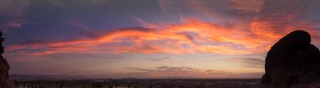 Late evening cloudscape view of Phoenix,Az