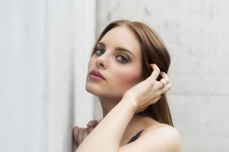 model face: Fashion model beautiful face