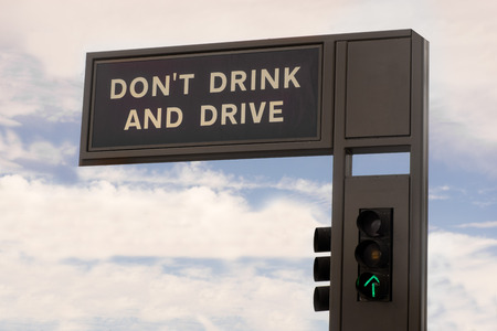 drink and drive: Dont drink and drive sign